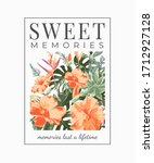 sweet memories slogan with... | Shutterstock .eps vector #1712927128