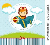 Baby Boy Pilot   Vector...