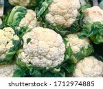 Cauliflower With Green Coverage ...