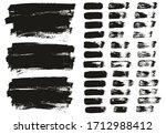 flat paint brush thin lines  ... | Shutterstock .eps vector #1712988412