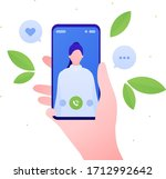 smartphone communication app...