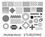 memphis  set of abstract... | Shutterstock . vector #1713025342