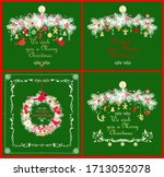 christmas craft greeting cards... | Shutterstock . vector #1713052078