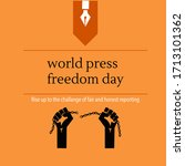 world press freedom day poster... | Shutterstock .eps vector #1713101362