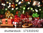 christmas presents  | Shutterstock . vector #171310142