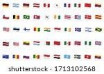 set of world flags waving  ... | Shutterstock .eps vector #1713102568
