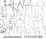 vector crack texture. grunge... | Shutterstock .eps vector #1713115768