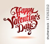 vector valentines day card with ... | Shutterstock .eps vector #171312212