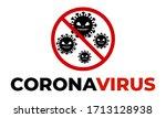 coronavirus scary face stop... | Shutterstock .eps vector #1713128938