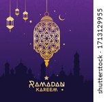 ramadan kareem festival... | Shutterstock .eps vector #1713129955