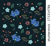 nice spring ethnic pattern with ... | Shutterstock .eps vector #171314786