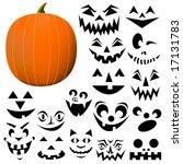 build your own jack o lantern.... | Shutterstock .eps vector #17131783