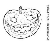 cartoon spooky pumpkin | Shutterstock .eps vector #171319568