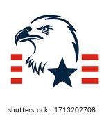american eagle patriotic logo.... | Shutterstock .eps vector #1713202708