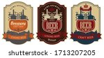 set of vector labels for beer... | Shutterstock .eps vector #1713207205