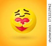 care emoji   yellow face... | Shutterstock .eps vector #1713215962