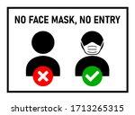 no face mask  no entry sign... | Shutterstock .eps vector #1713265315