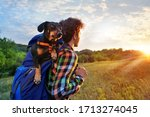 Boy Hiking At The Sundown With...