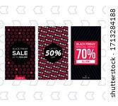 black friday marketing tool for ... | Shutterstock .eps vector #1713284188