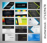 vector set of business cards | Shutterstock .eps vector #171329678