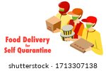 food delivery service for self... | Shutterstock .eps vector #1713307138