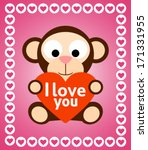 valentines day background card... | Shutterstock .eps vector #171331955