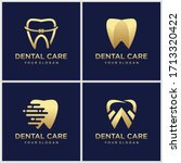 dental clinic logo with...   Shutterstock .eps vector #1713320422