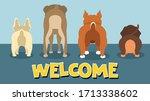 dog butt dachshund french...   Shutterstock .eps vector #1713338602