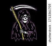 grim reaper with scythe color...