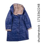 Female Blue Beige Coat With A...