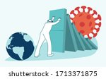 global economic impacts 2020.... | Shutterstock .eps vector #1713371875