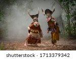 Phi Ta Khon Festival Ghost Mas...