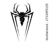 spider badge logo design grunge | Shutterstock .eps vector #1713395155