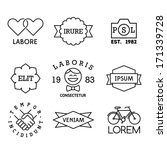 minimal vintage labels with... | Shutterstock .eps vector #171339728