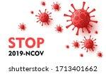 coronavirus novel  2019 ncov .... | Shutterstock .eps vector #1713401662