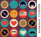 pop art british musical pattern | Shutterstock .eps vector #171341096