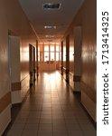Small photo of Corridor of the sanatorium. Department of the sanatorium. Tuberculosis sanatorium