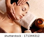 masseur doing massage on woman... | Shutterstock . vector #171344312