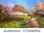 Rural Manor In Spring During...