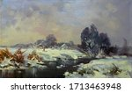Small River With Snowy Banks O...