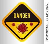 danger caution signs.... | Shutterstock .eps vector #1713474532