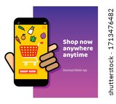 online shopping web banners and ... | Shutterstock .eps vector #1713476482