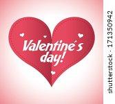 love design over pink  ... | Shutterstock .eps vector #171350942
