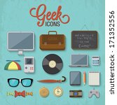 various geek icons. vector... | Shutterstock .eps vector #171352556