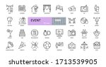 event vector icons. editable...   Shutterstock .eps vector #1713539905