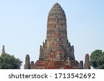 sculpture ancient old pagoda at ... | Shutterstock . vector #1713542692