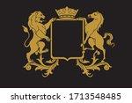 a coat of arms crest heraldic... | Shutterstock .eps vector #1713548485