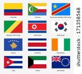 set  flags of world sovereign...   Shutterstock .eps vector #171358568