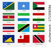 set  flags of world sovereign... | Shutterstock .eps vector #171358586