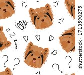 Cute Yorkshire Terrier Dog...